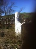Herz-Jesu-Skulptur im früheren Garten