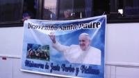 Die Missionsschwestern auf dem Weg zum Papst