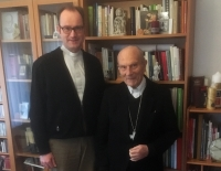 Bischof Kühnel zu Besuch bei Pfarrer Trautmann